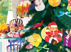 三越デパート 恵比寿 季刊誌recipeクリスマス号表紙+ポストカード